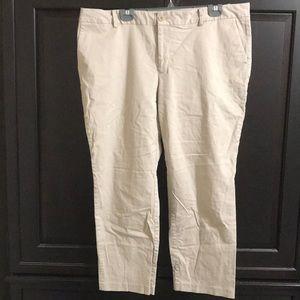 Eddie Bauer Cropped Khaki Pants